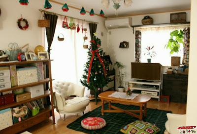 部屋クリスマス飾り