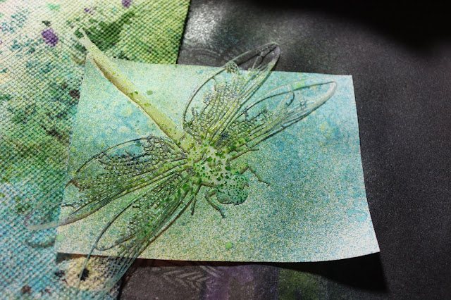 Stipple Mists Masking Stencil Resist Card #dragonfly #stencil #maskingstencil #clubscrap #mists #resists