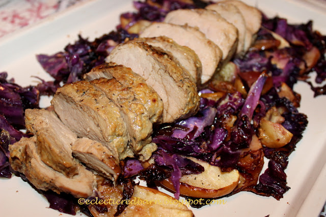 Eclectic Red Barn: Dijon Pork with Cabbage and Apples