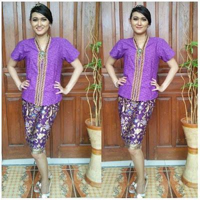 Model Kebaya Batik Velisa Ungu