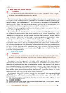 9. Sınıf Din Kültürü Ders Kitabı Cevapları Nev Yayınları Sayfa 21