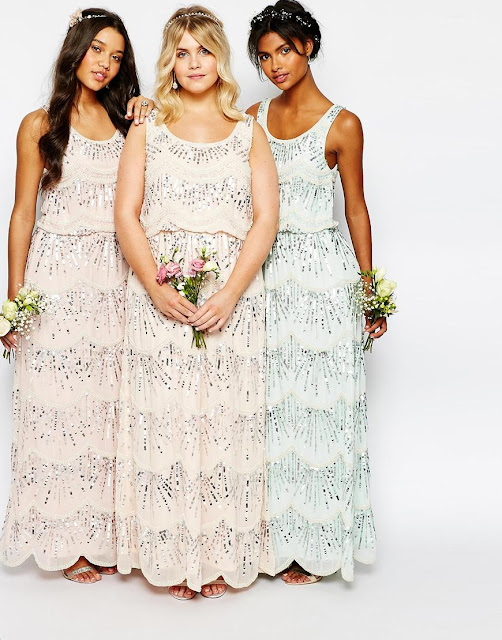 maya sequin scallop edge dress, maya scallop dress, pastel embellished bridesmaid dress,