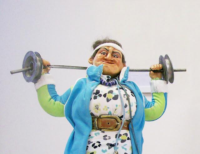 """Екатерина Барац (Самара) """"Баба Галя - физрук"""" Выставка авторской куклы в Самаре """"Куклы. Эмоции. Чувства."""""""