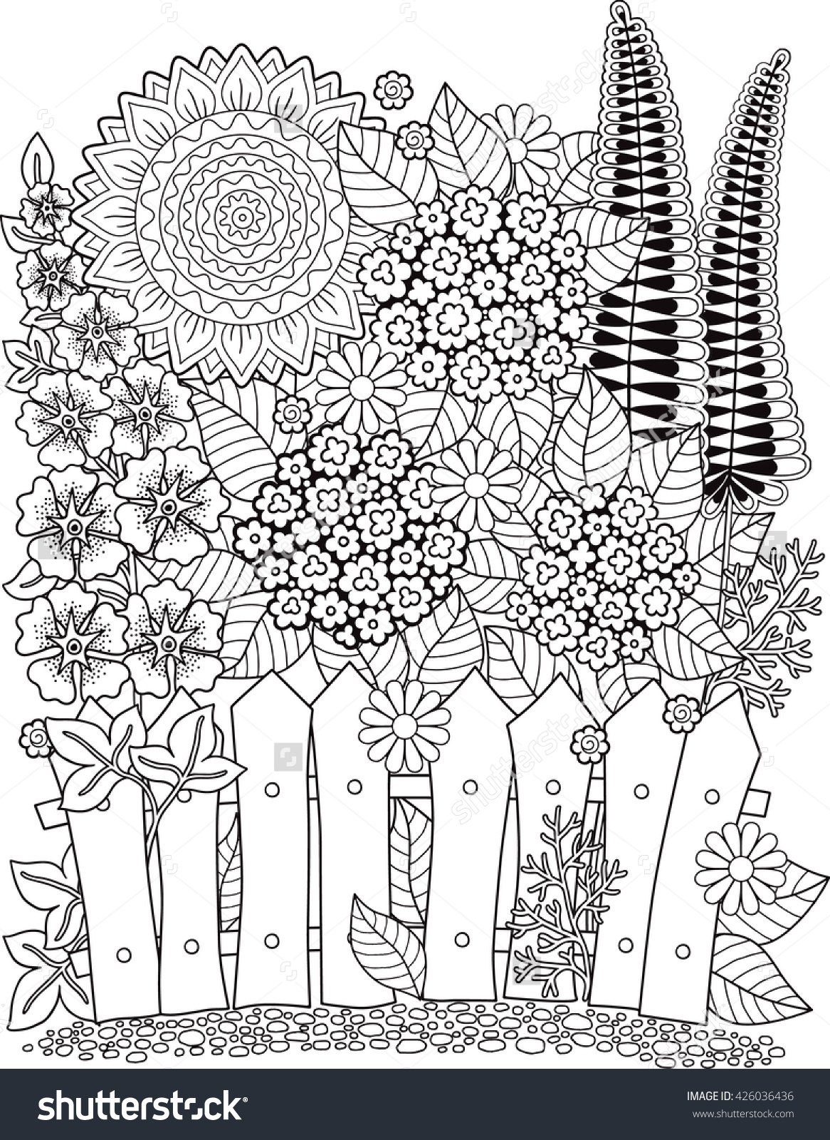 Unique Sunflower Coloring Pages For Adults Free Big