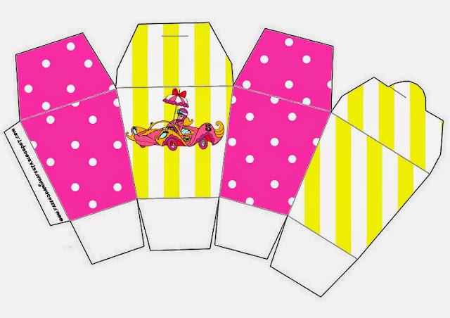 Caja para cupcakes, chocolates o golosinas de Penelope Glamour Retro.
