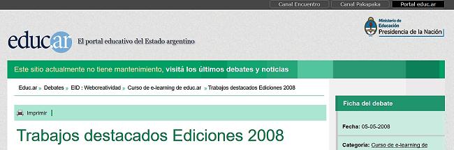 http://portal.educ.ar/debates/eid/webcreatividad/curso-de-elearning-de-educar/trabajos-destacados-ediciones.php