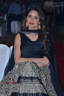 Actress Pragya Jaiswal Stills in Black Dress at Om Namo Venkatesaya Audio Launch Event  0021.JPG