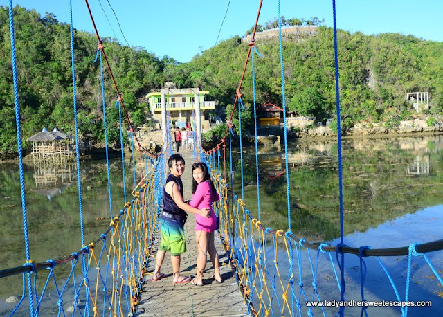 bridge from Tinagong Dagat to Latasan