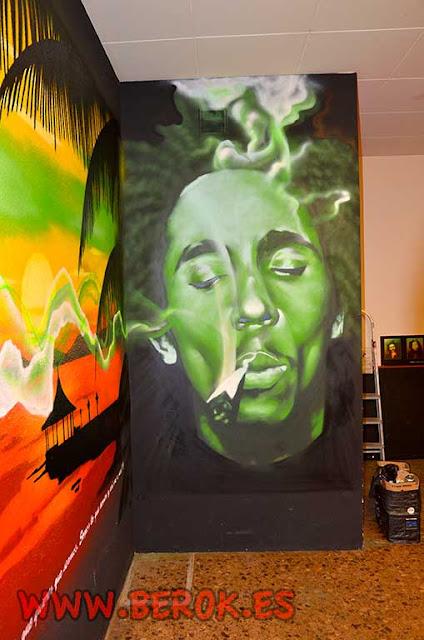 Graffiti Cannabis Bob Marley
