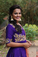 Actress Shraddha Srinath in Purple Chania Choli Cute Pics ~  Exclusive 49.jpg