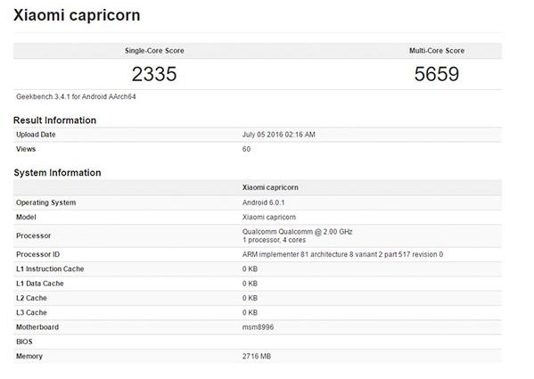 Gambar Processor Xiaomi Capricor