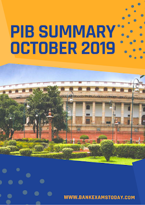 PIB Summary: October 2019
