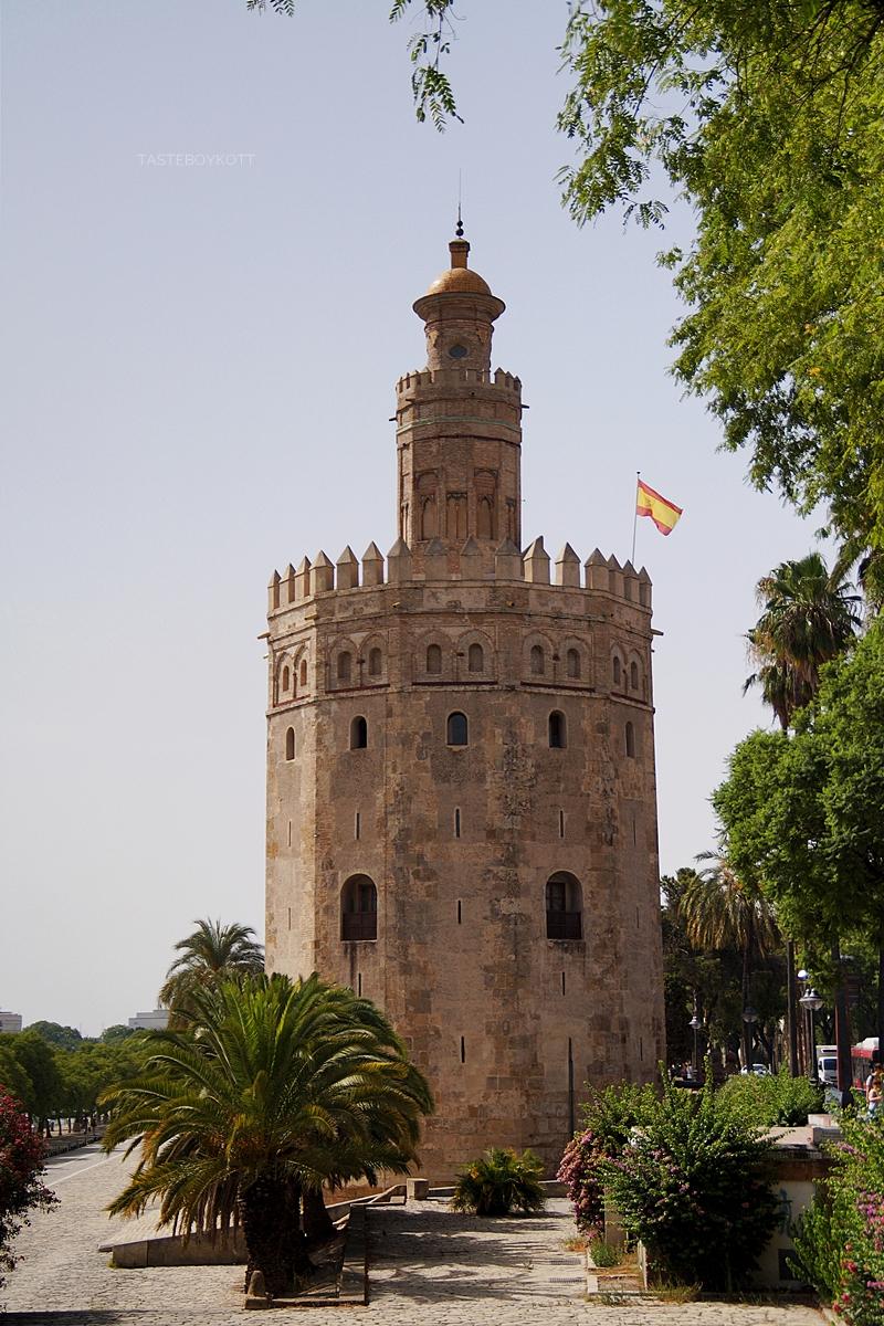 Torre del Oro tower in Seville, Spain // Torre del Oro Turm in Sevilla, Spanien   Sevilla im Sommer bereisen
