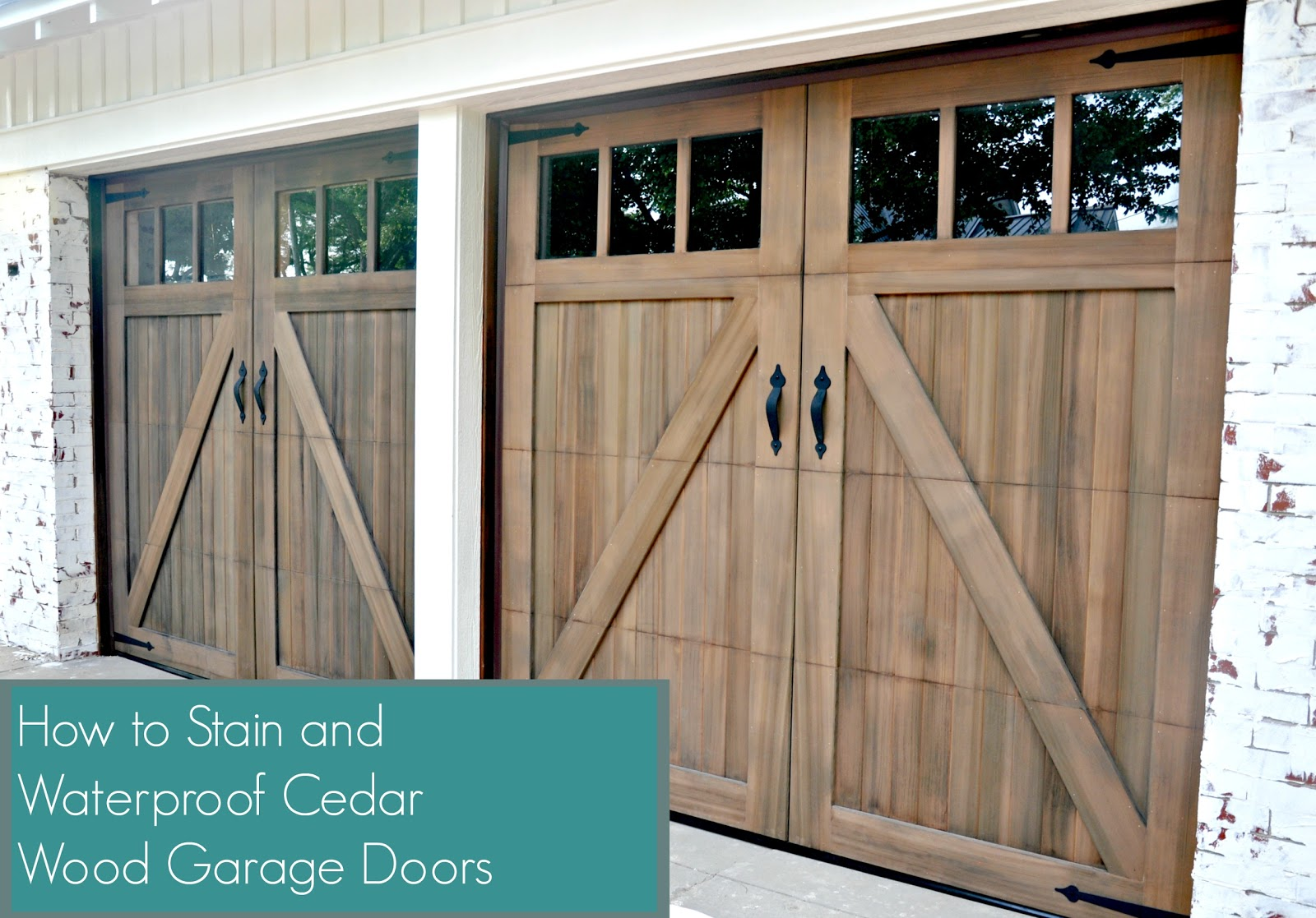 Today I\\u0027m Sharing A Quick Tutorial On How To Stain And Waterproof Cedar Wood Garage Doors. After I Spent Two Weekends Unsuccessfully Trying To Strip ... & Waterproofing Shed Doors \u0026 Door-features-5 Pezcame.Com