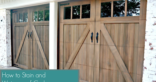 Tutorial: How to Stain and Waterproof Cedar Wood Garage Doors