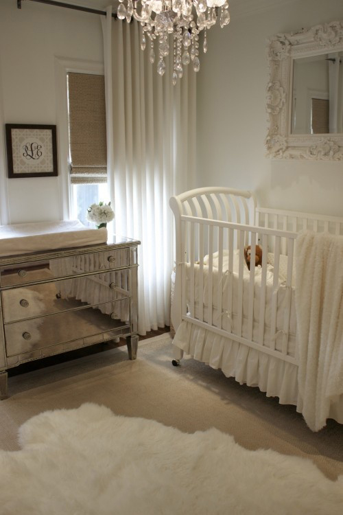 Furry Baby Bedroom: The Peak Of Très Chic: Elegant Nursery Design