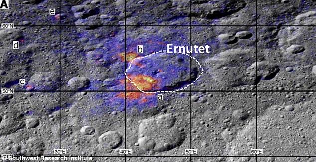 El material orgánico en Ceres parece esparcido en la superficie
