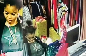 See The Moment A Lady Steals N250k From Lagos Store ( Video/Photos)