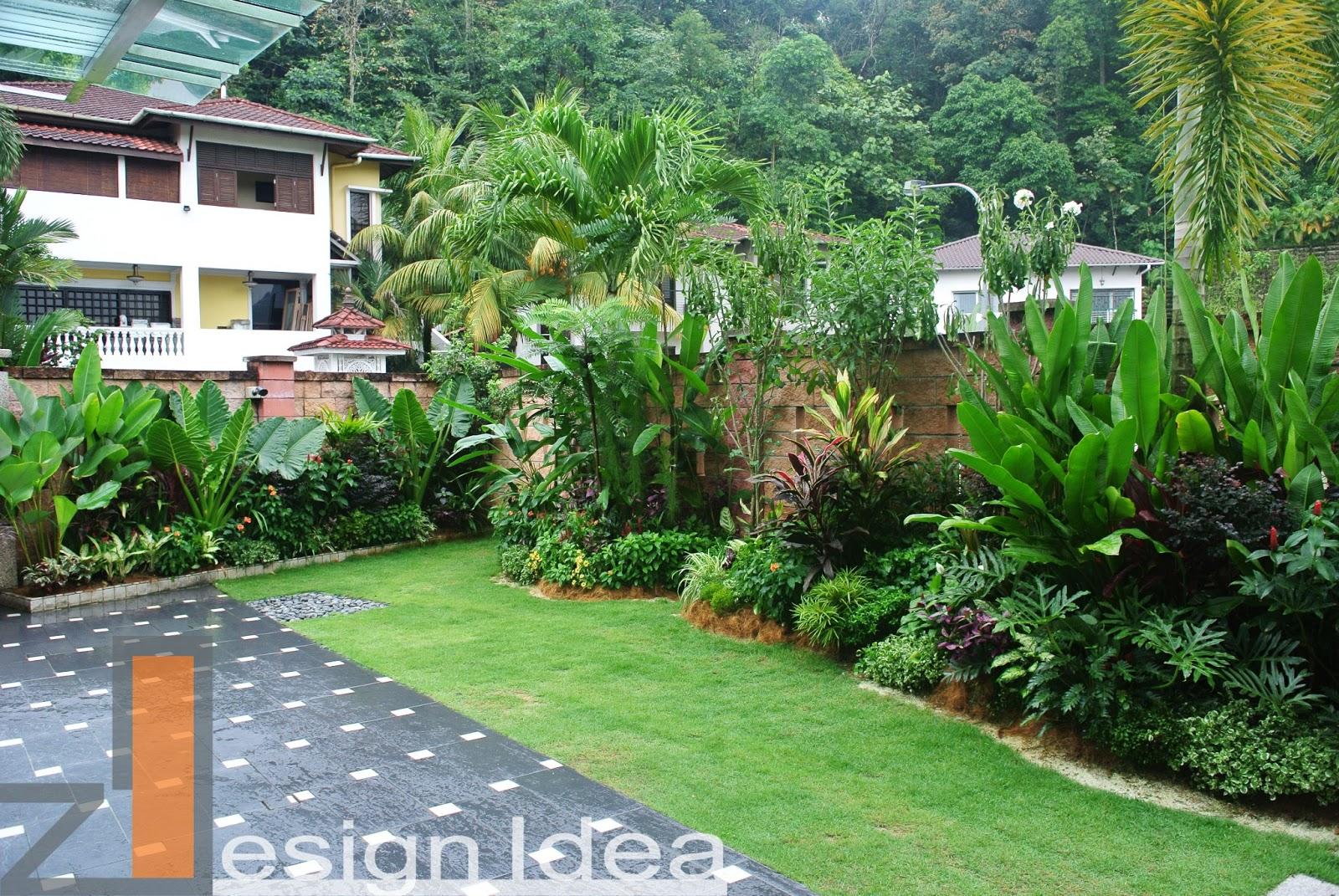 Tropical Outdoor Living : Tropical Garden (Design,Build ... on Tropical Backyard Ideas  id=91993