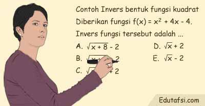 invers sanggup diartikan sebagai kebalikan KUMPULAN RUMUS CEPAT INVERS FUNGSI DILENGKAPI CONTOH