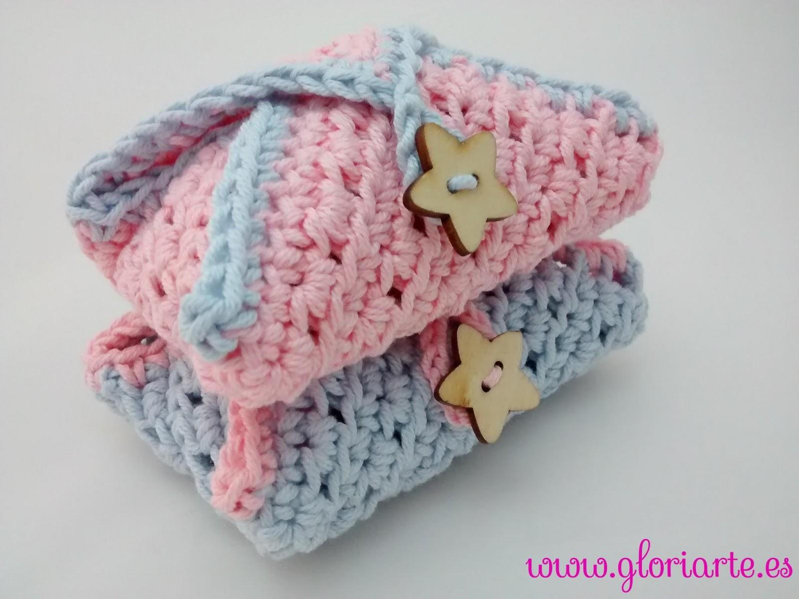 Funda de ganchillo para guardar el jab n gloriarte crochet - Detalles de ganchillo para regalar ...
