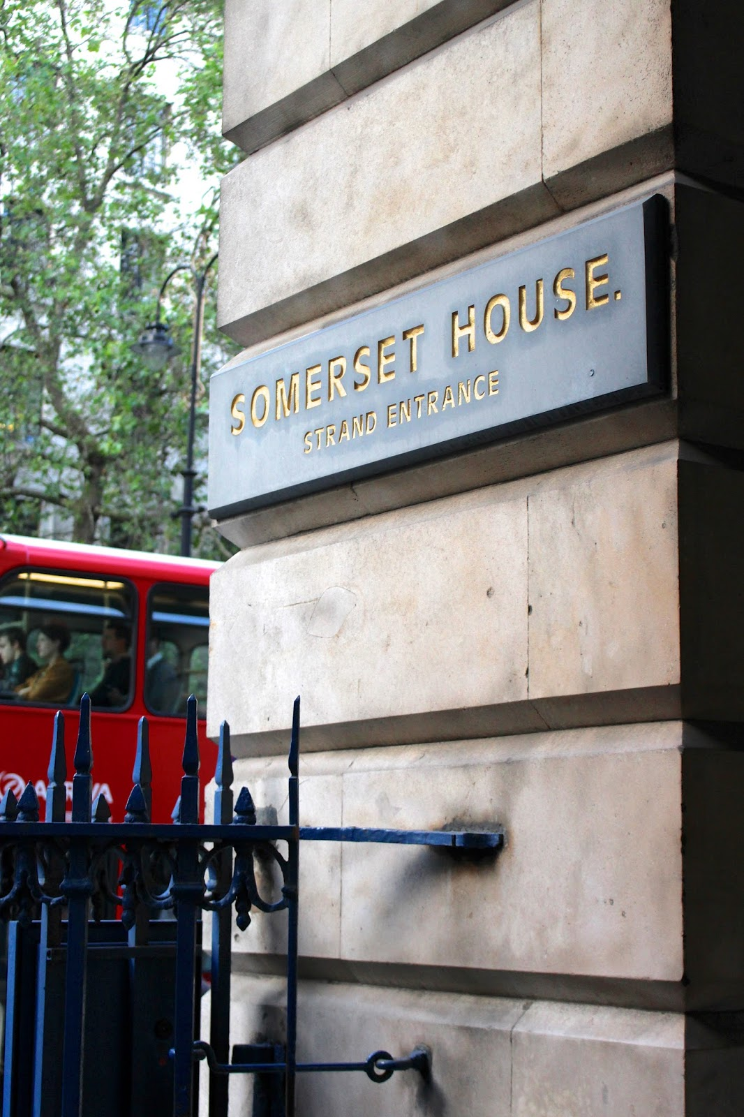 Somerset House entrance sign
