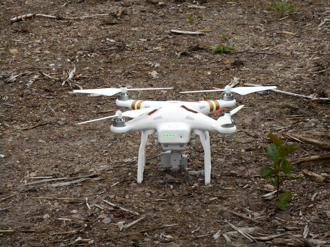 Drone parcheggiato