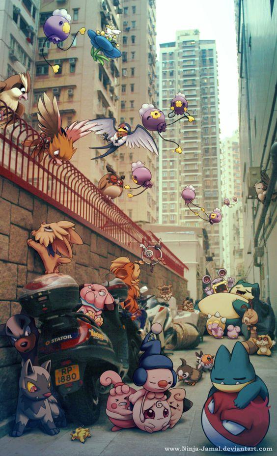 Pokemon In City