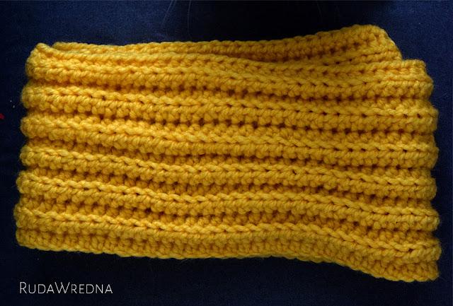Szydełkowy szalik, szalik na szydełku, szalik na szydełku ze wzorem, z opisem
