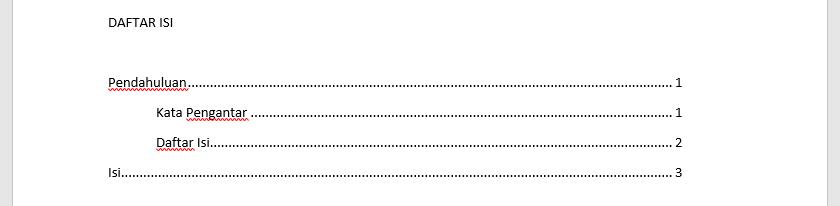 Cara Membuat Titik-titik Daftar Isi di MS Word Rapi - Dua Rupa
