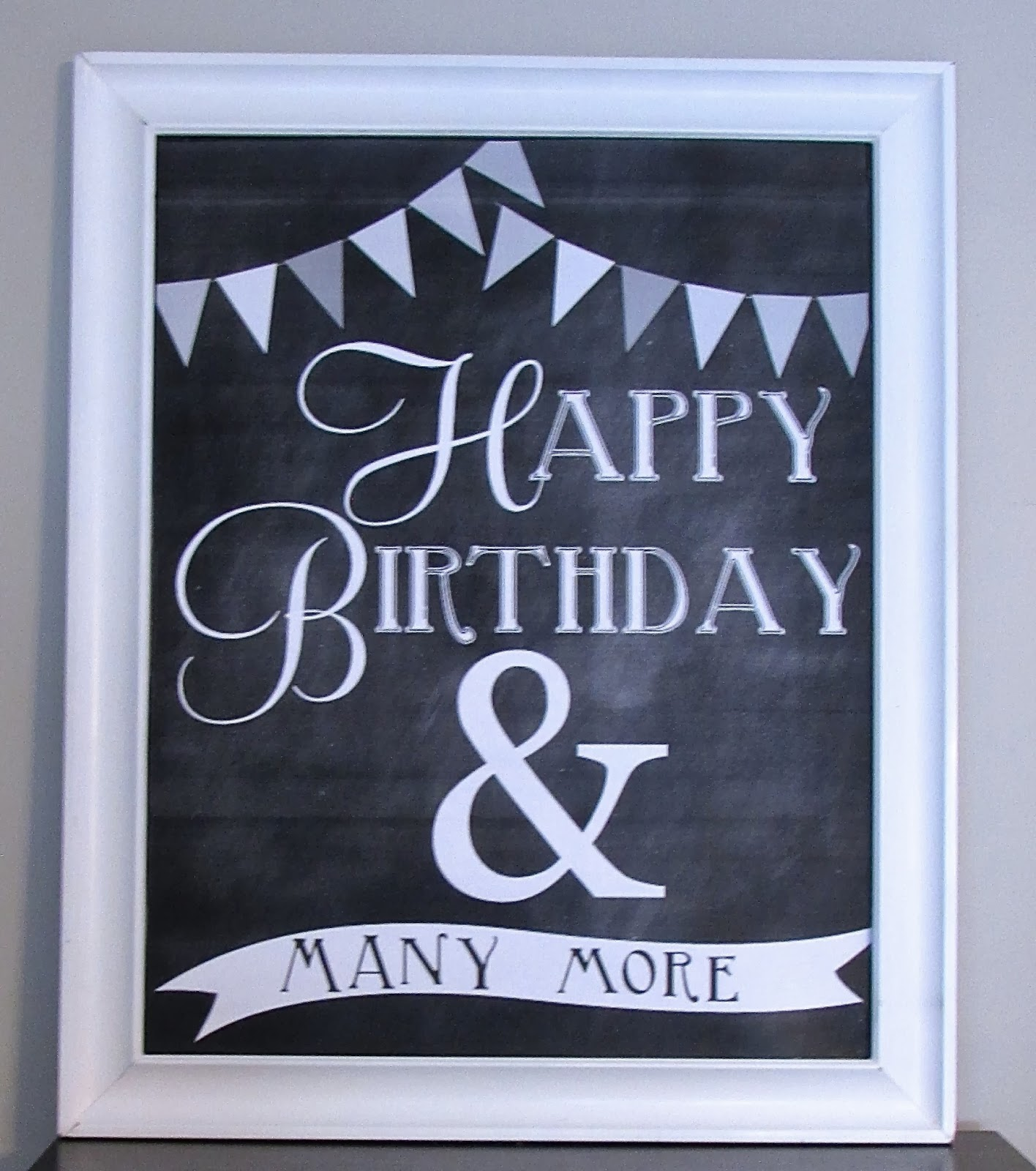 happy birthday chalkboard art printable