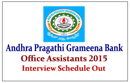 Andhra Pragathi Grameena Bank Office Assistants