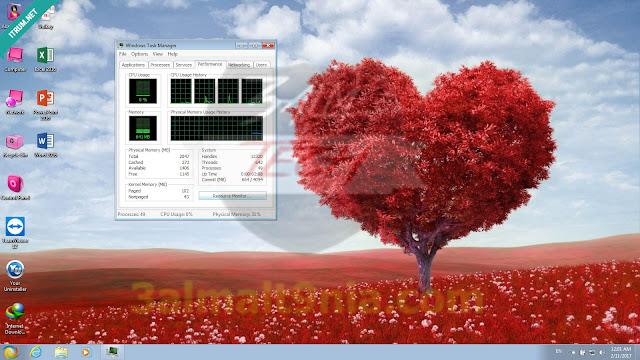 Windows 7 x64 Valentine 2017 - عالم التقنيه