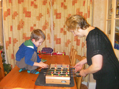 table fussball on christmas day