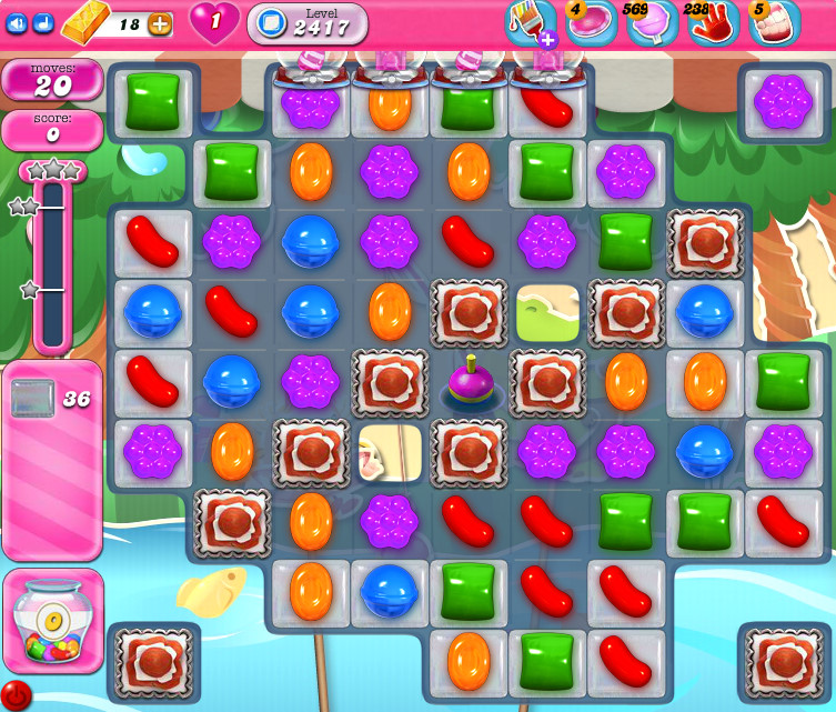 Candy Crush Saga level 2417