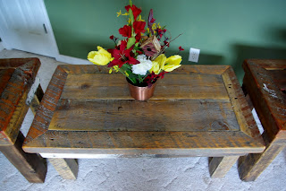 Reclaimed Rustics Rustic Coffee Table Amp Matching End Tables
