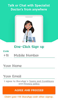 DocsApp: Refer and earn 5 ₹ per refer