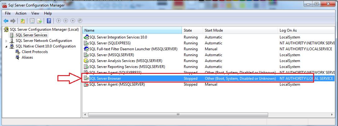 SQL Server Browser