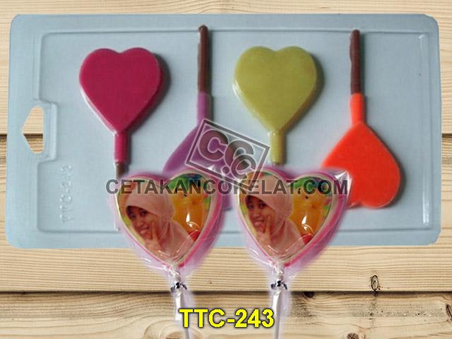 Cetakan Coklat TTC243 Love Flat Polos Edible valentine