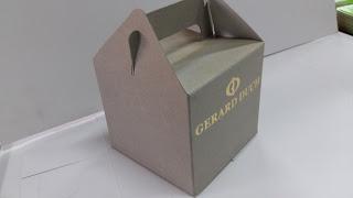 caja cartón con asa