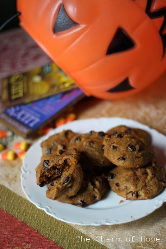 Lily's Chocolates and Pumpkin Chocolate Chip Cookies