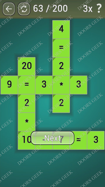 Math Games [Beginner] Level 63 answers, cheats, solution, walkthrough for android
