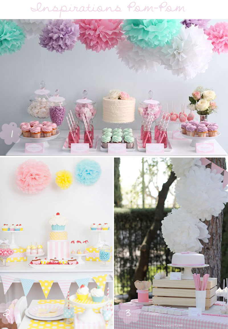 deco party diy tissue paper pom pom