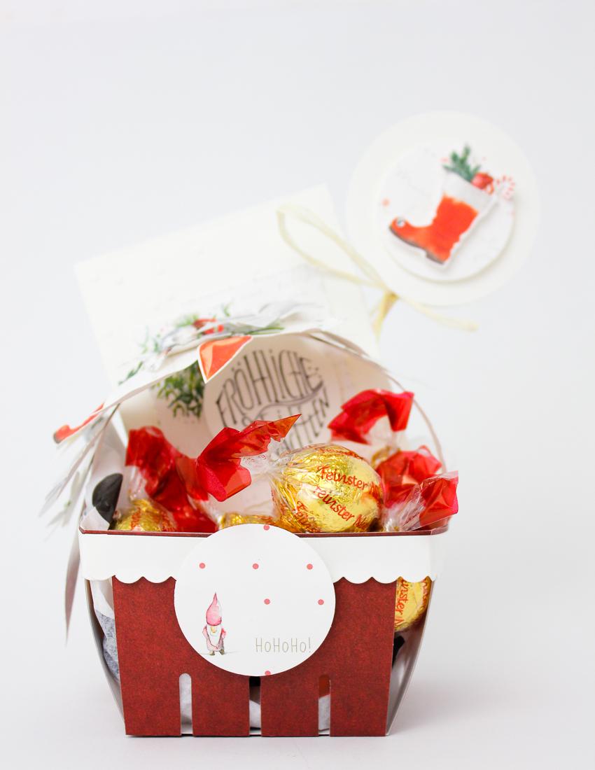 Kleiner weihnachtlicher Geschenkkorb - Janna Werner für Alexandra Renke