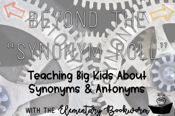Synonyms and antonyms don't have to be hard! Use task cards, books, songs, and a FREE resource (or two!) to make it more engaging for your students!