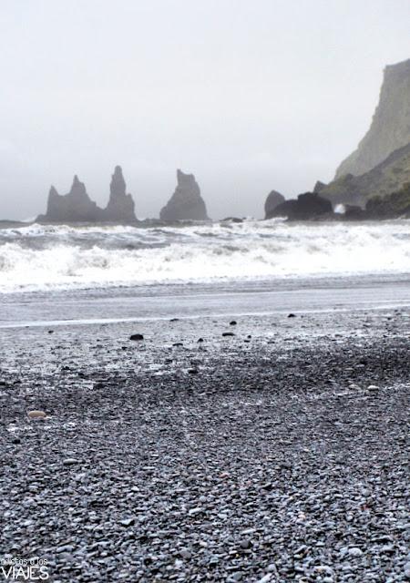 Trolls de piedra de Vik Islandia