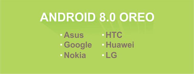 Daftar Smartphone yang menikmati android Oreo
