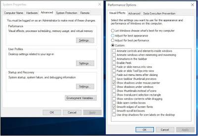 windows 10 tanpa efek