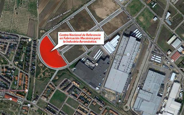Localizacion satelite del Centro de formacion para la industria aeronáutica
