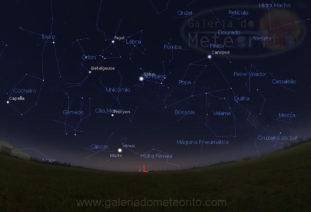 como encontrar o cometa 67P C-G no céu